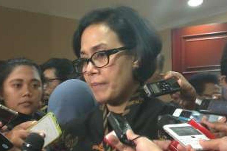 Menteri Keuangan Sri Mulyani di Jakarta, Selasa (22/11/2016)