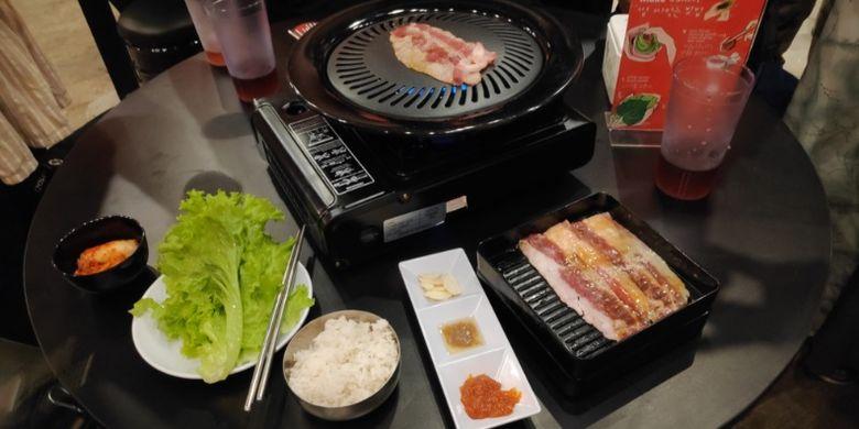 Panggang daging ala Korea di Pochajjang.