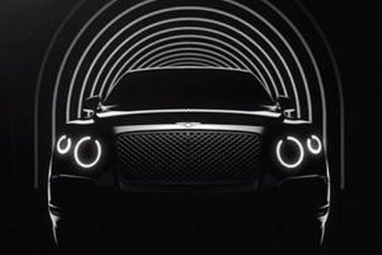 Bentley memunculkan teaser model SUV dalam video.