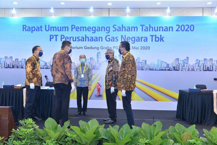 PT Perusahaan Gas Negara (PGN) Tbk, menggelar Rapat Umum Pemegang Saham Tahunan (RUPST), Jumat (15/5/2020).
