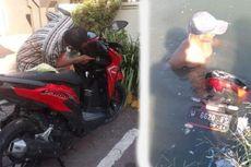Tukang Sampah Temukan Motor Honda Vario di Dalam Sungai