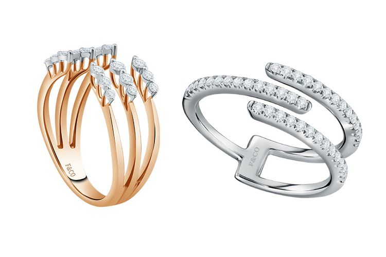 Cincin berlian Glisten dan cincin berlian Glimmer