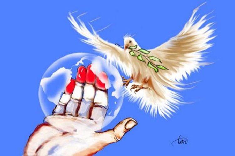 Ilustrasi perdamaian