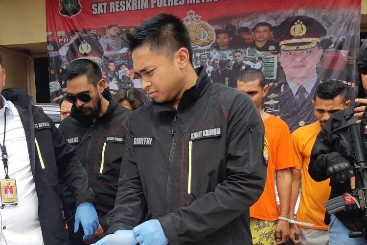 Kasatreskrim Polres Jakarta Barat AKBP Edy Sitepu di Polres Jakarta Barat, Senin (28/10/2019).