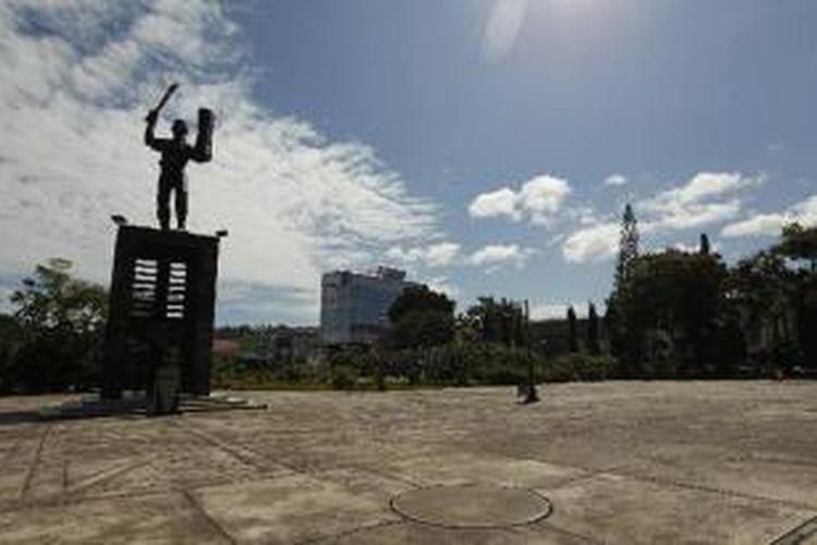 Patung Kapitan Pattimura, di Pattimura Park, Ambon, Maluku, Minggu (29/1/2012).