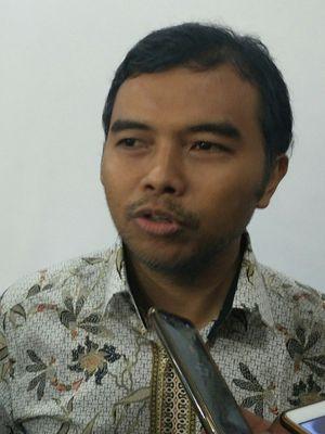 Aktivis Indonesia Corruption Watch Adnan Topan Husodo di Jakarta, Rabu (15/11/2017).