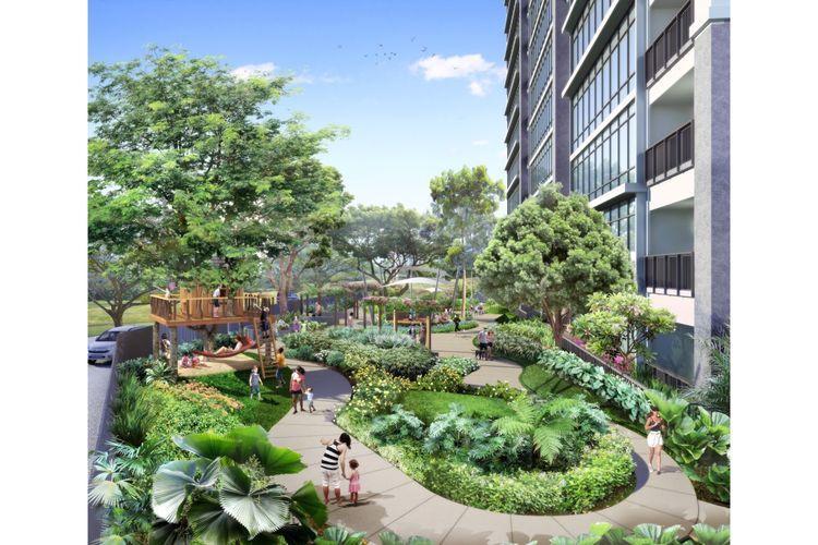 Aerium Green Exclusive merupakan kompleks hunian dengan ketersediaan ruang terbuka hijau hingga 75 persen dari total luas area.