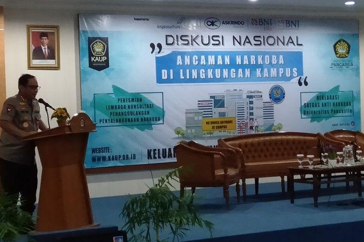 Wakapolri Komjen Pol Eddy Gatot Pramono di Universitas Pancasila, Jakarta Selatan, Jumat (17/1/2020)