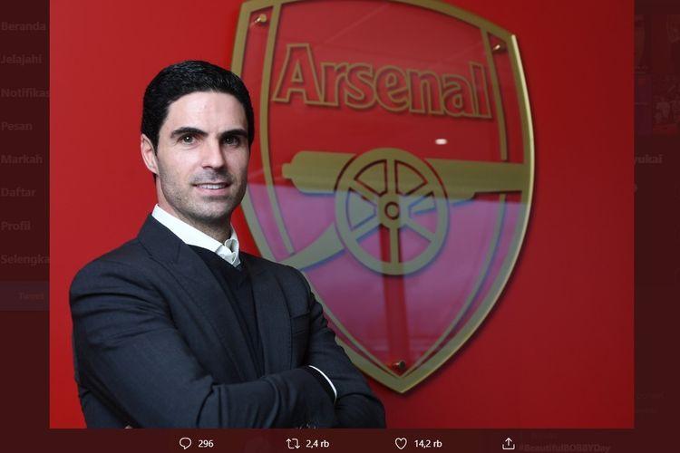 Pelatih baru Arsenal, Mikel Arteta