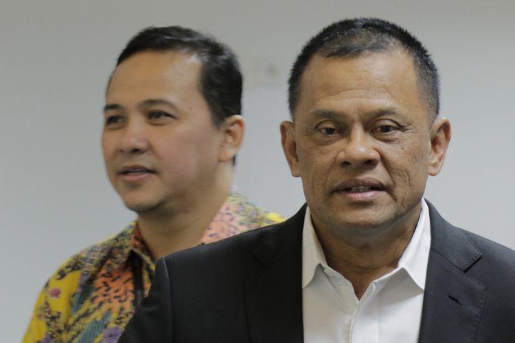 Jenderal TNI (Purn) Gatot Nurmantyo saat berkunjung ke kantor Redaksi Kompas.com, Menara Kompas, Jakarta, Senin (23/4/2018).