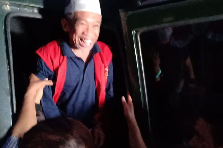 Pelawak Nurul Qomar saat dieksekusi Kejaksaan Negeri Brebes menuju Lapas Kelas IIB Brebe, Rabu (19/8/2020)