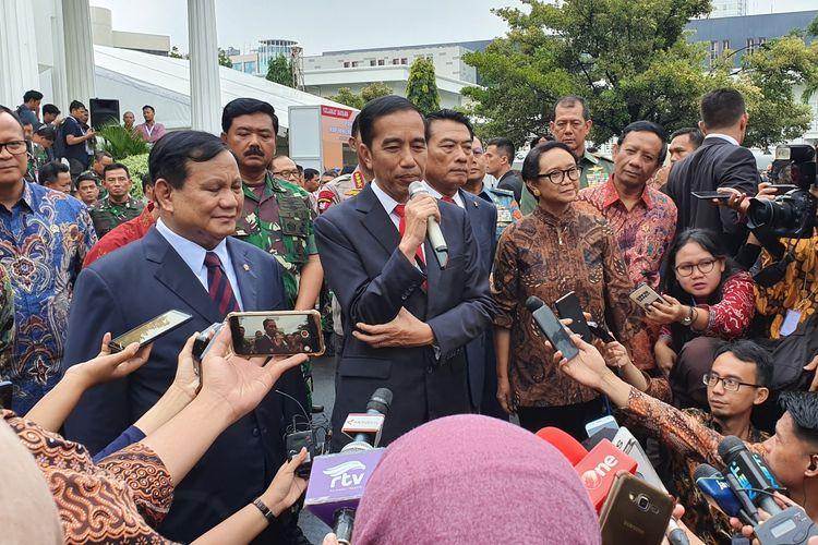 Presiden Joko Widodo menghadiri rapat pimpinan Kementerian Pertahanan 2020, Kamis (23/1/2020) pagi.