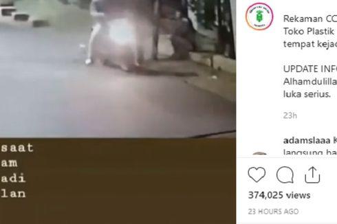 Terekam CCTV, Seorang Pria Dirampok Saat Sedang Tunggu Ojol