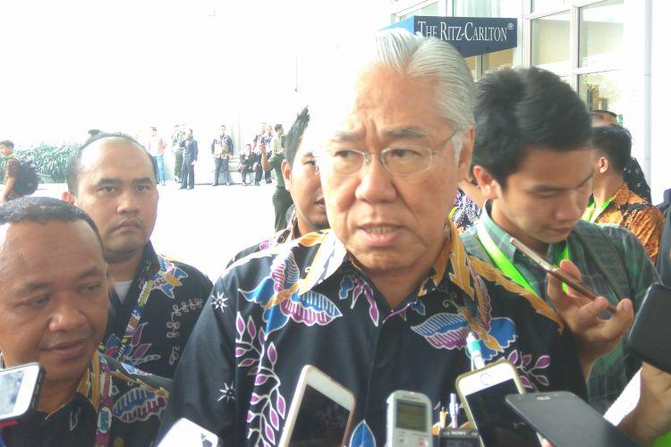 Menteri Perdagangan Enggartiasto Lukita usai menghadiri acara Rakernas Hipmi di Jakarta, Senin (27/3/2017).