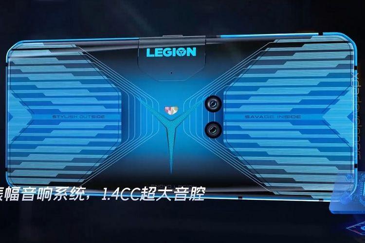 Bocoran desain ponsel gaming Lenovo Legion.