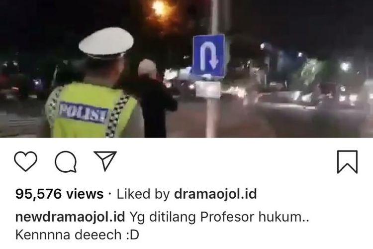 Viral video seorang polisi lalu lintas dimarahi oleh seorang pria yang mengaku sebagai profesor hukum