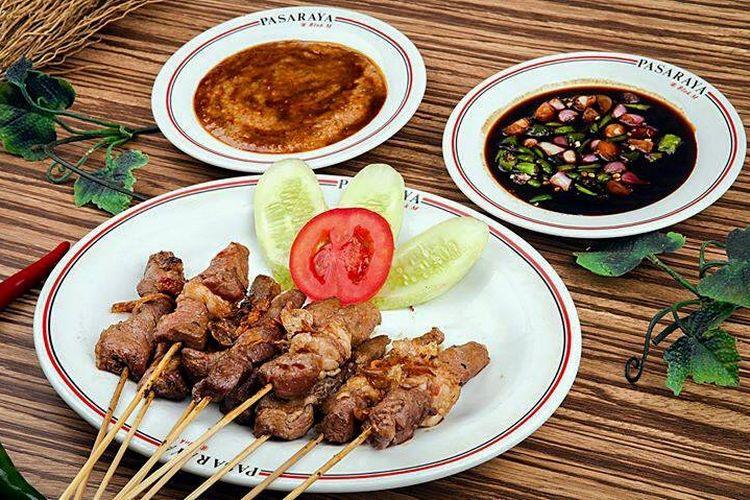 Salah satu menu di Sate Hadori Bandung.