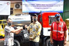 Lawan Covid-19, AMMDes Water Tank Beralih Fungsi Semprot Disinfektan