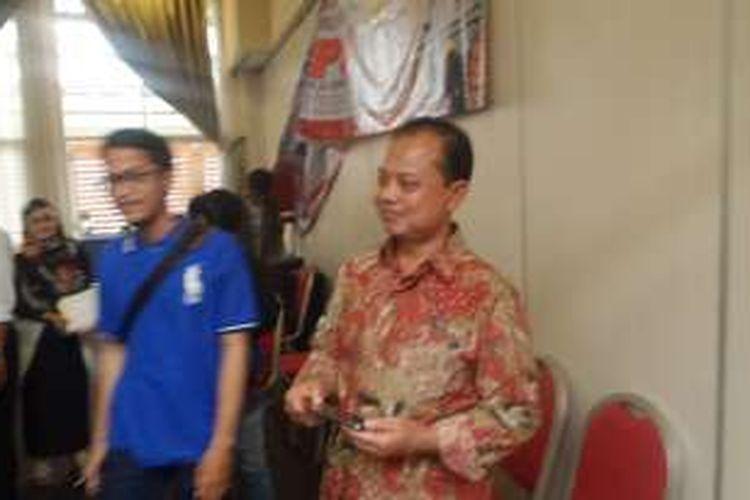 Ketua KPUD Jakarta Sumarno saat ditemui di Jakarta Pusat, Selasa (1/11/2016)