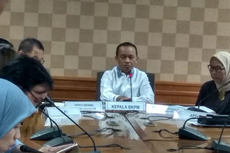 Kepala BKPM Bahlil Lahadalia di kantornya, Jakarta, Rabu (11/12/2019).