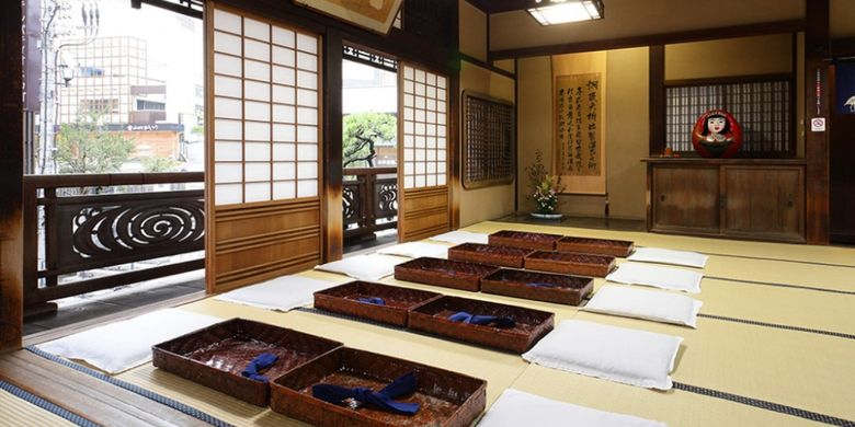 One of the rooms to relax after a hot bath at Dogo Onsen in Matsuyama City, Ehime Prefecture, Japan.