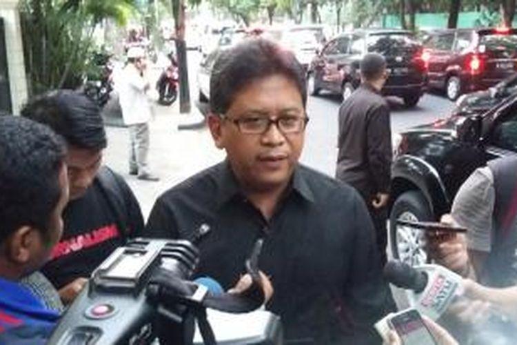 Sekretaris Jenderal PDI Perjuangan Hasto Kristiyanto saat ditemui di Jalan Teuku Umar, Jakarta Pusat, Selasa (3/11/2015).