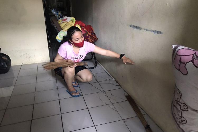 Sejumlah rumah di RW 02, Jagakarsa, Jakarta Selatan terendam banjir setinggi sekitar 50 centimeter pada Sabtu (20/2/2021) pagi.