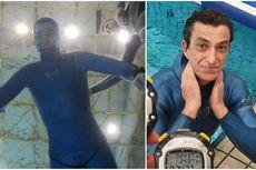 Rekor Dunia, Pria 56 Tahun Tahan Napas di Dalam Air 24,37 Menit