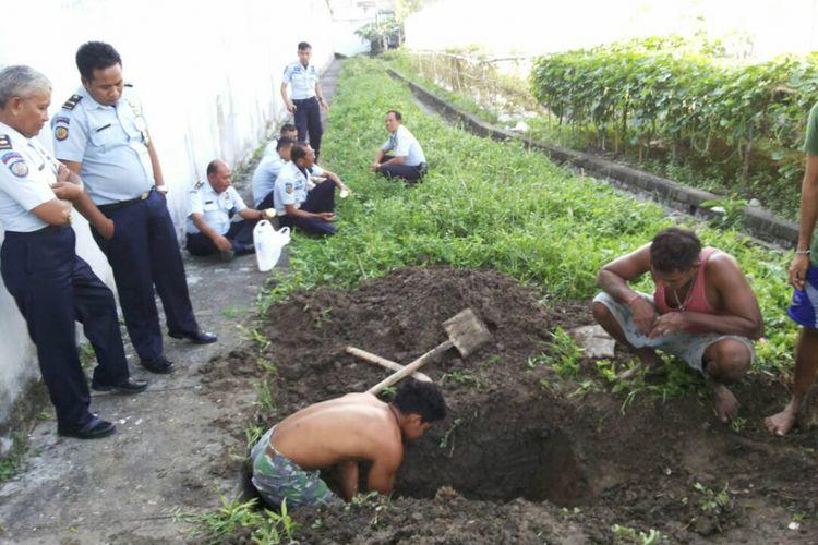 Petugas Lapas Kerobokan Denpasar Lakukan Penggalian Lubang Jalur Kaburnya Empat Narapidana