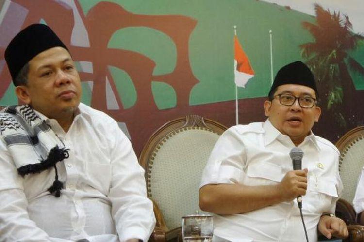 Wakil Ketua DPR RI Fahri Hamzah dan Fadli Zon di Kompleks Parlemen, Senayan, Jakarta, Jumat (4/11/2016)
