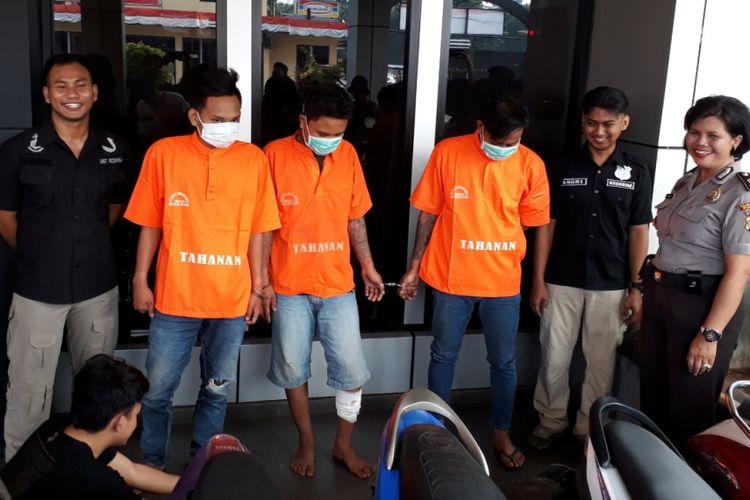 3 pelaku curanmor dibekuk polisi di Kota Bekasi.