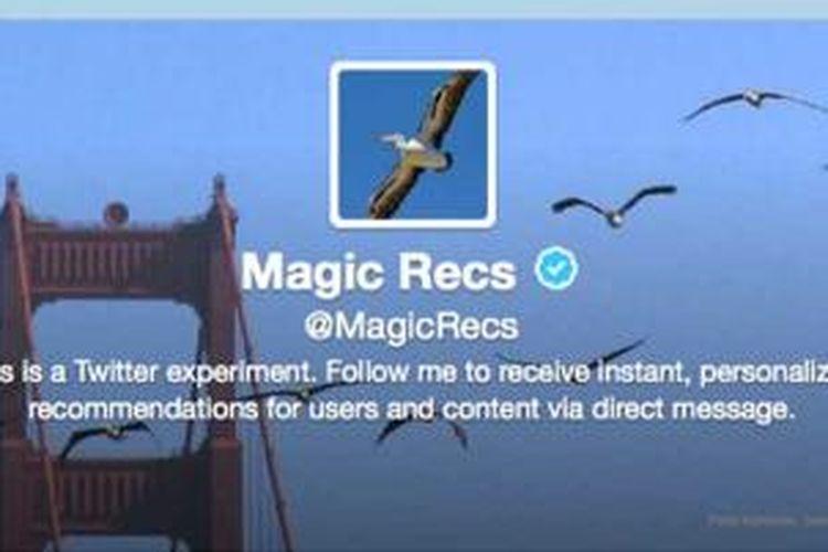 Akun twitter MagicRecs