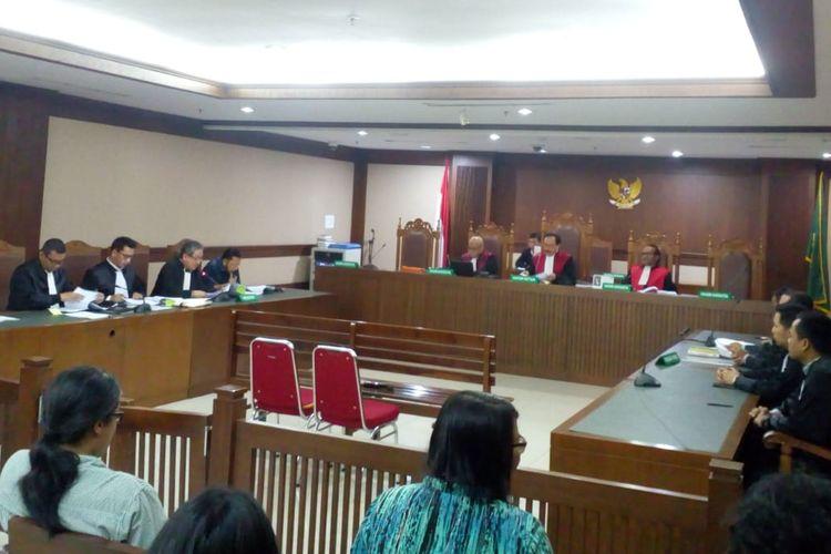 Sidang peninjauan kembali (PK) mantan Ketua DPR Setya Novanto di Pengadilan Negeri Jakarta Pusat, Rabu (28/8/2019)