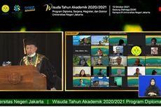Wisuda Virtual UNJ, Rektor: Segenap Sivitas Akademika Harus Berpandangan Jauh ke Depan