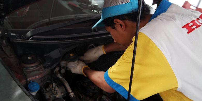 Penggantian recall master rem Honda bisa dilakukan di posko mudik.