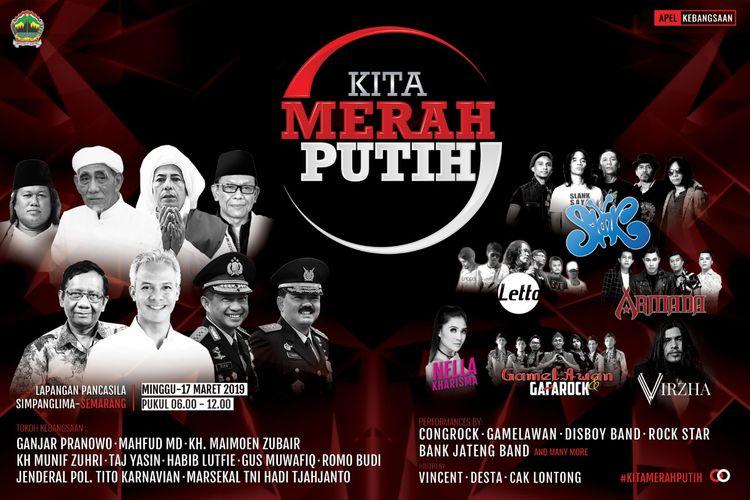 Pamflet apel kebangsaan di Semarang, Minggu (17/3/2019)