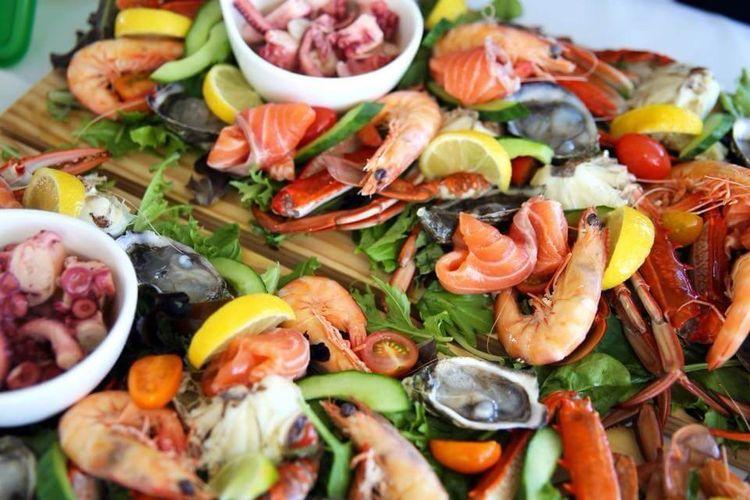 Hidangan laut di Mandurah, Australia Barat