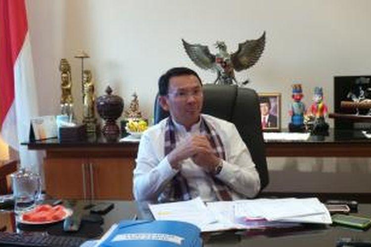 Wakil Gubernur DKI Jakarta Basuki Tjahaja Purnama di ruang kerjanya, di Balaikota Jakarta.