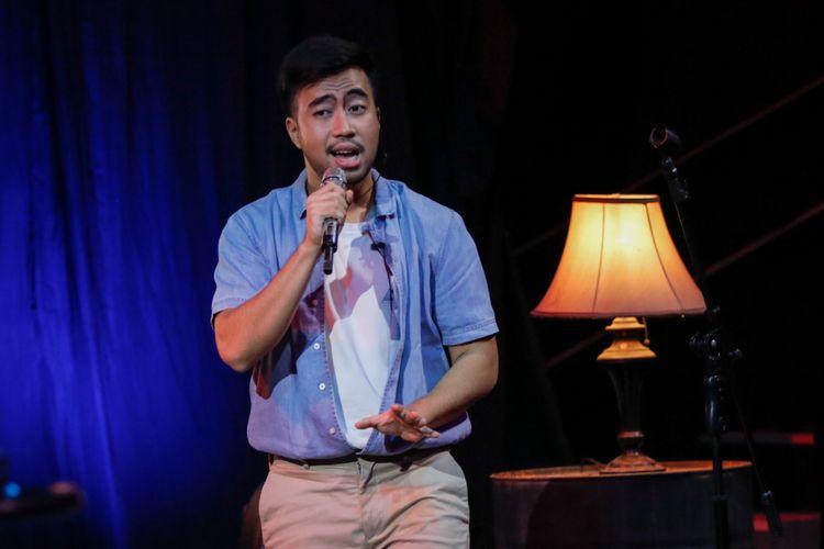 Vidi Aldiano tampil dalam program Selebrasi (Selebritas Beraksi) di Menara Kompas, Palmerah, Jakarta Pusat, Selasa (25/9/2018) siang.