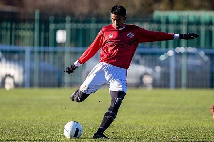 Kakang Rudianto, salah satu pemain remaja asal Indonesia yang mengikuti program Garuda Select tahap II.