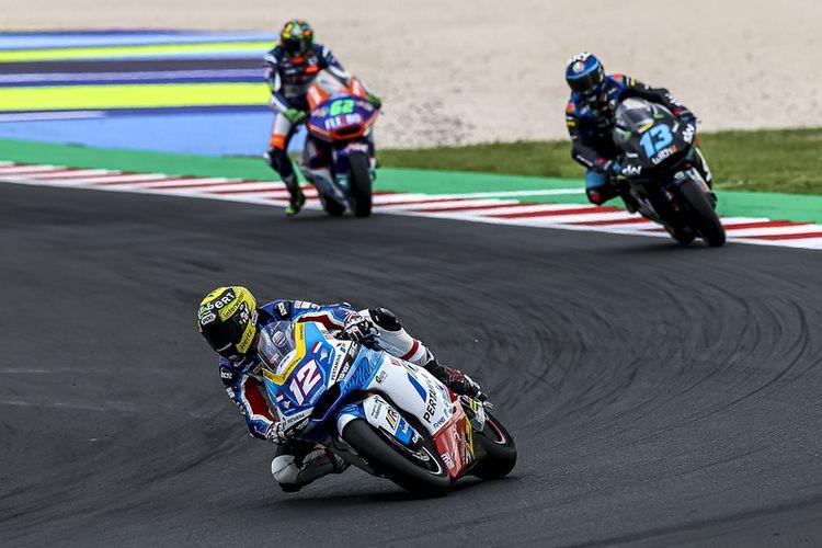 Tom Luthi saat berlaga pada Moto2 San Marino 2021