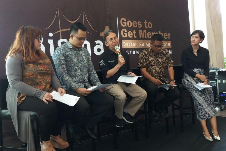 Badan Ekonomi Kreatif (Bekraf) kembali menyelenggarakan rangkaian kegiatan Bigger (Bisma Goes To Get Member) 2019 di Batam, Kepulauan Riau. Hal ini dilakukan mengingat dari 34.562 jumlah pelaku usaha Ekonomi Kreatif (Ekraf) di Kepri, namun baru 540 jumlah ekraf yang mendaftar melalui platform Bisma.