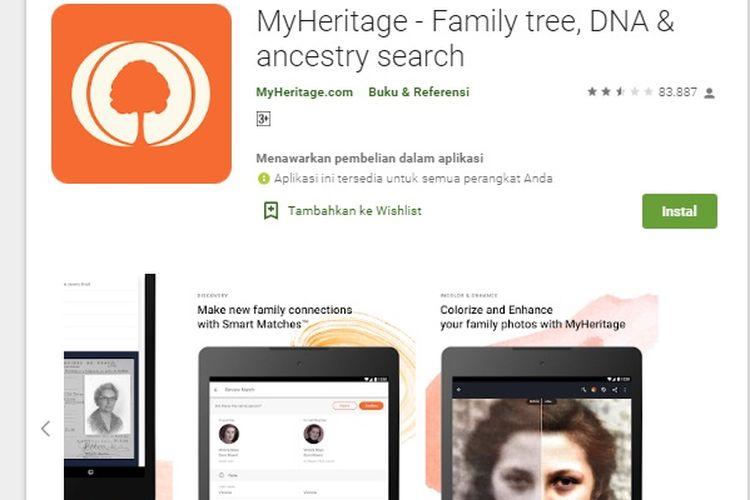 aplikasi MyHeritage