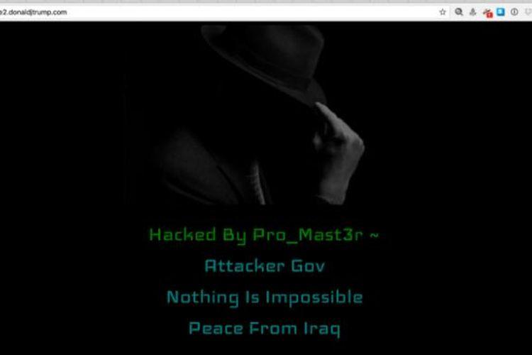 Situs penggalangan dana kampanye Donald Trump yang diretas kelompok hacker yang mengaku dari Irak.