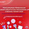 10 Besar Kampus Lolos Didanai PKM Lima Bidang 2020