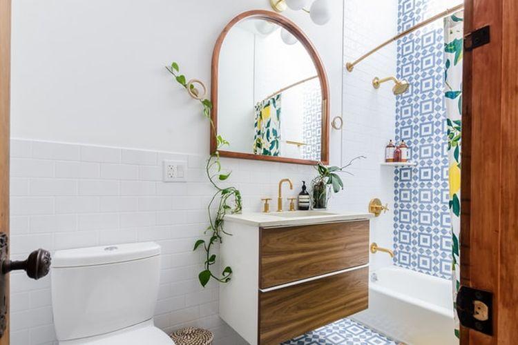 Ilustrasi dekor kamar mandi maroko