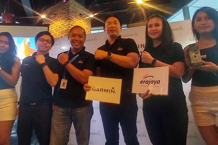 Peresmian kerja sama Erajaya dengan Garmin di Jakarta, Kamis (23/3/2017).