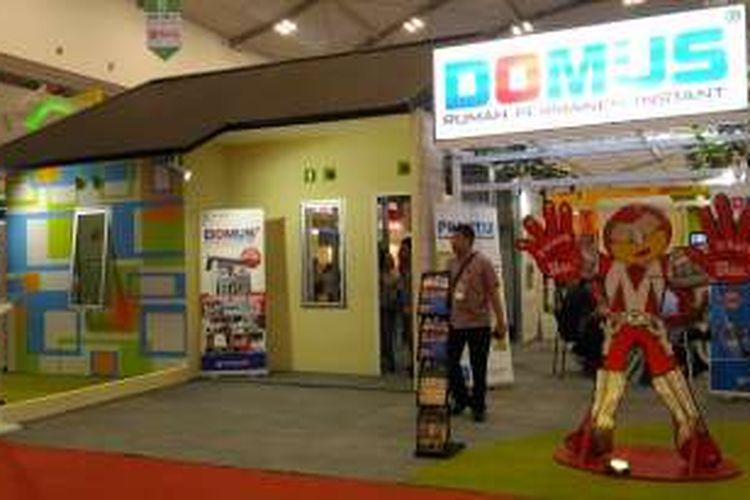 Penampakan Rumah Domus yang ada di IndoBuildTech Expo 2016, Indonesia Convention Exhibition (ICE) BSD City, Serpong, Tangerang Selatan, Rabu (25/5/2016)