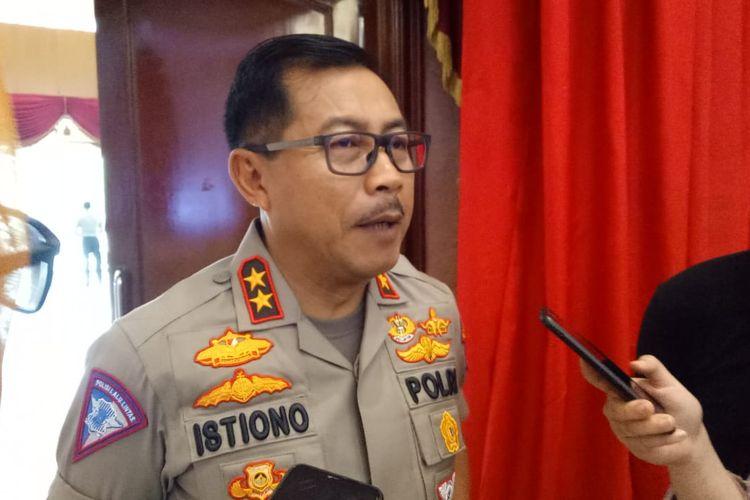 Kepala Korps Lalu Lintas (Korlantas) Polri Irjen Istiono ketika ditemui di Auditorium Mutiara Perguruan Tinggi Ilmu Kepolisian (PTIK), Jakarta Selatan, Jumat (13/12/2019).