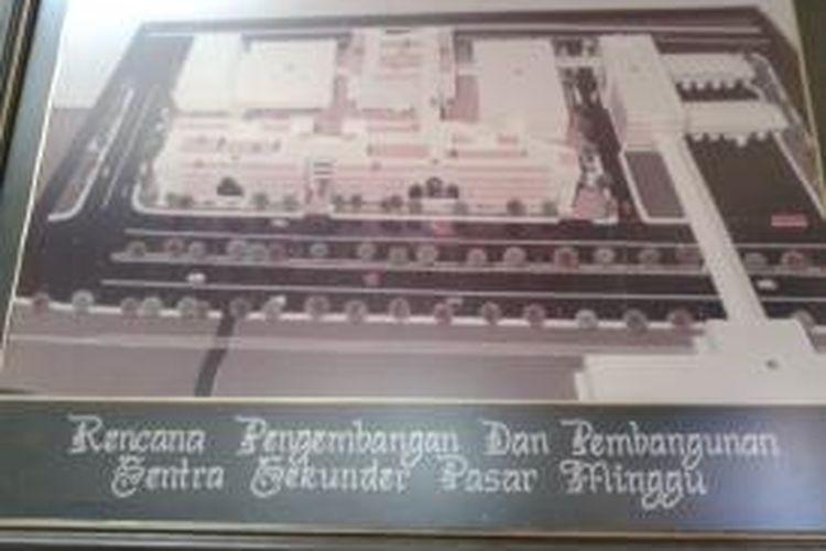 Rancangan perombakan kawasan pasar di Pasar Minggu, Jakarta Selatan. Nantinya bangunan pasar dan terminal bus akan terhubung dengan stasiun kereta dengan penbangunan jembatan penyebrangan (Doc : Pemerintah Kota Administrasi Jakarta Selatan)
